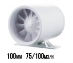 CICHY WENTYLATOR KANAŁOWY DWUBIEGOWY - QUIETLINE DUO, 75/100m3/h, fi100mm