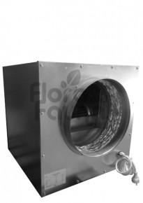 CICHY WENTYLATOR RADIALNY, STALOWY SOFTBOX, 1500m3/h, fi250+250mm, 45x45xh45cm, 400W, 1400rpm