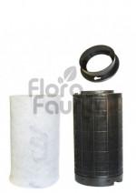 FILTR WĘGLOWY PLASTIKOWY CAN-ORIGINAL, KOŁNIERZ 100mm, 75-100m3/h, L25/W14.5cm,