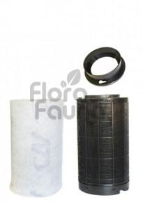FILTR WĘGLOWY PLASTIKOWY CAN-ORIGINAL, KOŁNIERZ 125mm, 150-200m3/h, L45/W14.5cm