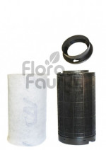 FILTR WĘGLOWY PLASTIKOWY CAN-ORIGINAL, KOŁNIERZ 125mm, 200-250m3/h, L60/W14.5cm,