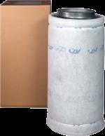 FILTR WĘGLOWY STALOWY, PRZYŁĄCZE fi-250mm, 2000-2200m3/h, CAN-LITE, L100/W30cm