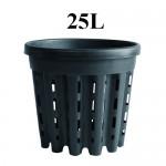 DONICZKA OKRĄGŁA, KOSZYK, AIR POT, 25L, fi>37.5cm, fi<34.5cm x h32cm, SUPER ROOT