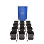 KOMPLETNY SYSTEM AUTOPOT (1POT), 12 DONICZEK 15L + ZBIORNIK FLEXITANK 225L + AKCESORIA