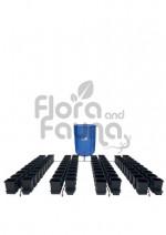 KOMPLETNY SYSTEM AUTOPOT (1POT), 80 DONICZEK 15L + ZBIORNIK FLEXITANK 750L + AKCESORIA