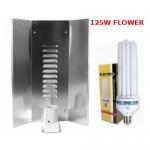 LAMPA CFL ZESTAW 125W, ENERGOOSZCZĘDNY, ELEKTROX FLOWER (kwitnienie) + WZMACNIANY ODBŁYŚNIK ELEKTROX