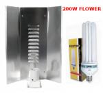 LAMPA CFL ZESTAW 200W, ENERGOOSZCZĘDNY, ELEKTROX FLOWER (kwitnienie) + WZMACNIANY ODBŁYŚNIK ELEKTROX