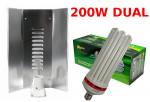 LAMPA CFL ZESTAW 200W, ENERGOOSZCZĘDNY, PHYTOLITE DUAL (wzrost+kwitn.) + WZMACNIANY ODBŁYŚNIK ELEKTR