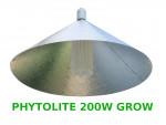 """LAMPA CFL ZESTAW 200W, ENERGOOSZCZĘDNY, PHYTOLITE GROW (wzrost) + ODBŁYŚNIK PIONOWY """"PARAFLECTO"""