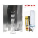 """LAMPA CFL ZESTAW 85W, ENERGOOSZCZĘDNY, ELEKTROX GROW (wzrost) + WZMACNIANY ODBŁYŚNIK ELEKTROX """""""