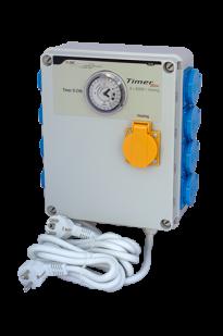 Programator czasowy GSE TimerBox 8 gniazd max.600w + ogrzewanie