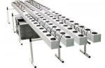SYSTEM HYDROPONICZNY GHE AEROFLO NA 80 ROŚLIN, 200L, 410x105xh57cm