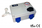 TEMPO BOX- PROGRAMATOR CZASOWY Z PRZEKAŹNIKIEM ABSORBUJĄCYM, TIMERBOX 4x600W, 230V+ OGRZEWANIE NOCNE
