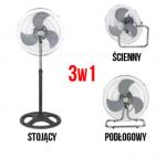 WENTYLATOR 3w1 Z REGULACJĄ MOCY I OSCYLACJĄ - VF, 55W/230V, fi-50cm, h-130cm, mieszający