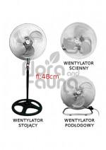WENTYLATOR ADVANCED STAR, 55W/230V, Z OSCYLACJĄ, fi-48cm, h-126cm, 3w1