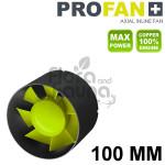 WENTYLATOR KANAŁOWY, OSIOWY - PROFAN INLINE 100, 15W, fi-100mm, 107m3/h, DOBRA JAKOŚĆ