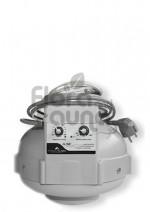 WENTYLATOR PROMIENIOWY Z REGULACJĄ OBROTÓW I TEMPERATURY, fi-125mm, 420m3/h