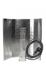 WZMACNIANY ODBŁYŚNIK LUSTRZANY, REFLEKTOR DO CFL, HPS, MH, 50x50cm, Z GNIAZDEM E40 i KABLEM dł.1m, V