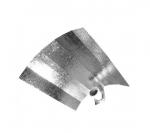 X-ODBŁYŚNIK 40x40cm, REFLEKTOR ALUMINIOWY HAMMERED, Z GNIAZDEM E.40,ODBIJALNOŚĆ 80%