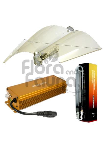 Zestaw Hps 400w Elektroniczny Do Uprawy Roślin Elektrox Gold Wings Defender Medium Gib Fs Ext