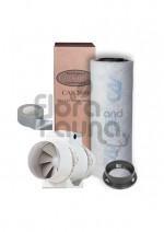 ZESTAW WENTYLACYJNY ECO 187m3/h DO BOXA 60x60x140cm (0,36m2), CAN-FILTER PLAST. + WENTYLATOR