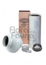 ZESTAW WENTYLACYJNY ECO 250m3/h DO BOXA 80x80x160cm (0,64m2), CAN-FILTER PLAST. + WENTYLATOR PROMIEN